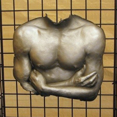 This male torso was done with our Half Torso Kit and painted with various metallic spraypaints.