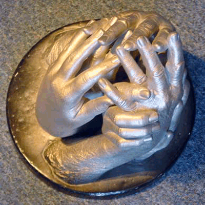 Our 570-PGV alginate is our slowest setting bucket mold alginate appropriate for hand castings, especially larger hand castings. We've done as many as 15 hands in a single sculpture with this product. Sets in about 5:30 when using 70°F water.