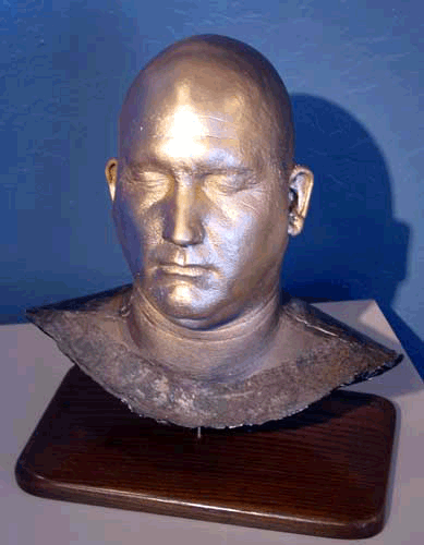 Full head casting made from an alginate mold. Accu-Cast Genesis-V alginate was used. The head cast was mounted and painted.