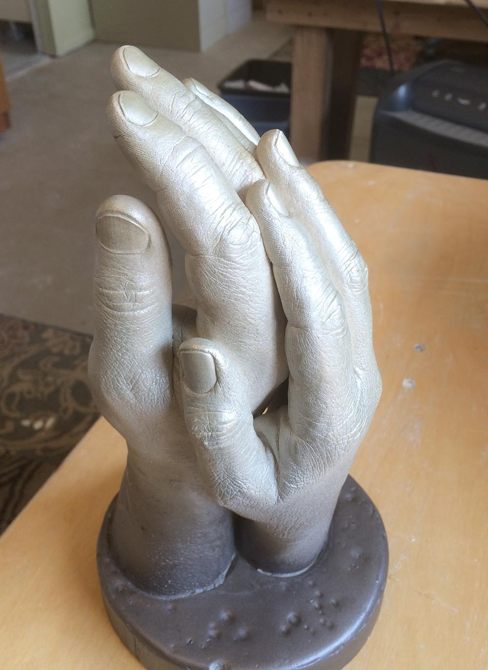 Couples hand castings make wonderful wedding gifts. This is a beautiful pose.